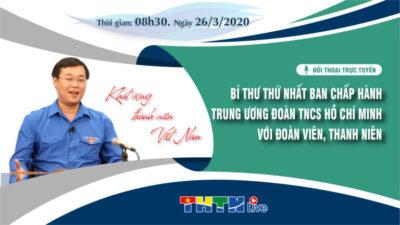 Đối thoại giữa Bí thư thứ nhất Ban chấp hành Trung ương Đoàn với Đoàn viên, thanh niên, năm 2020.