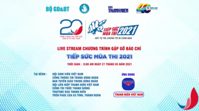 Chương trình gặp gỡ báo chí Tiếp sức mùa thi 2021