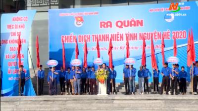 Ninh Bình - Ra quân Chiến dịch Thanh niên tình nguyện hè 2020.