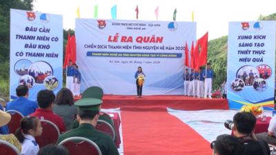 Nghệ An - Ra quân Chiến dịch Thanh niên tình nguyện hè năm 2020.