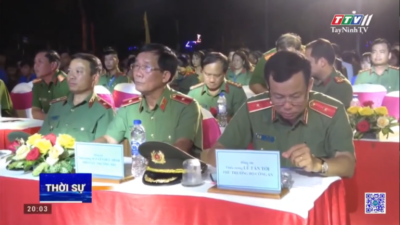 """Tây Ninh - Tuyên dương mô hình và cá nhân tiêu biểu trong phong trào """"Toàn dân bảo vệ an ninh Tổ quốc"""""""