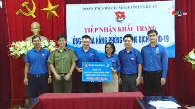 Nghệ An - Tỉnh đoàn Nghệ An ủng hộ Đà Nẵng hàng chục nghìn chiếc khẩu trang