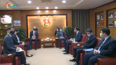 Bí thư thứ nhất Trung ương Đoàn làm việc với Trưởng đại diện WHO tại Việt Nam