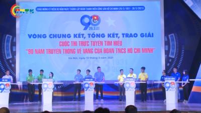 Chung kết Cuộc thi trực tuyến Tìm hiểu 90 năm truyền thống vẻ vang của Đoàn