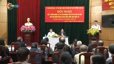 Đồng chí Nguyễn Ngọc Lương - Bí thư Trung ương Đoàn tiếp xúc cử tri nơi cư trú