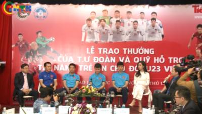 Đại diện cầu thủ U23 Việt Nam giao lưu trực tuyến với độc giả báo Tiền Phong