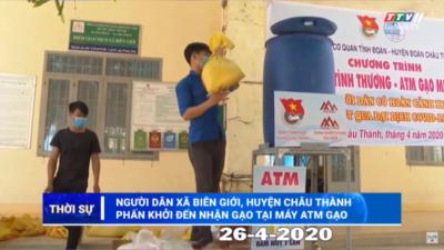 Tây Ninh - Người dân huyện Châu Thành phấn khởi đến nhận gạo tại máy ATM gạo.